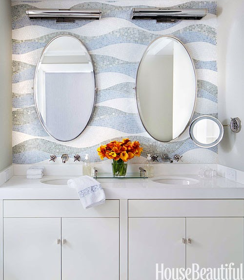 Loveisspeed a new york apartment with amazing modern art and stunning details fluted - Bathroom for small spaces pict ...