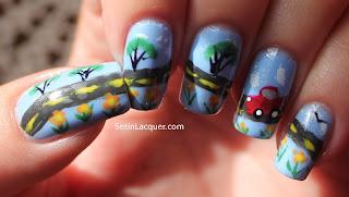 Road trip nail art