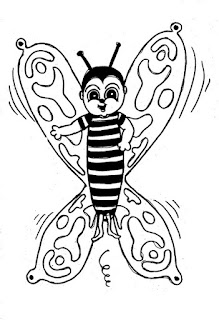 Desenho da borboleta para colorir