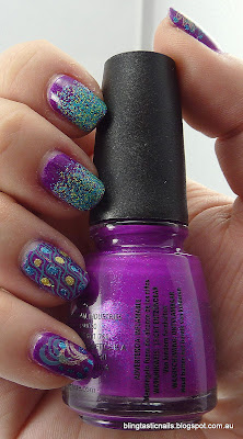 China Glaze Flying Dragon with Floam and stamping