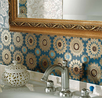 Turquoise Ceramic For Bathroom Interior Design  http://homeinteriordesignideas1.blogspot.com/