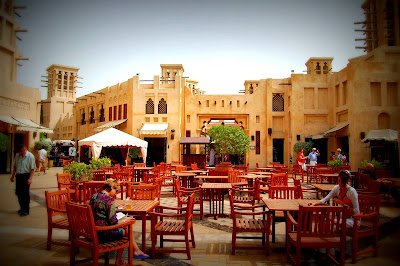 The piazza at Madinat Jumeirah in neighbouring Dubai is the ideal venue to sit back and chillax
