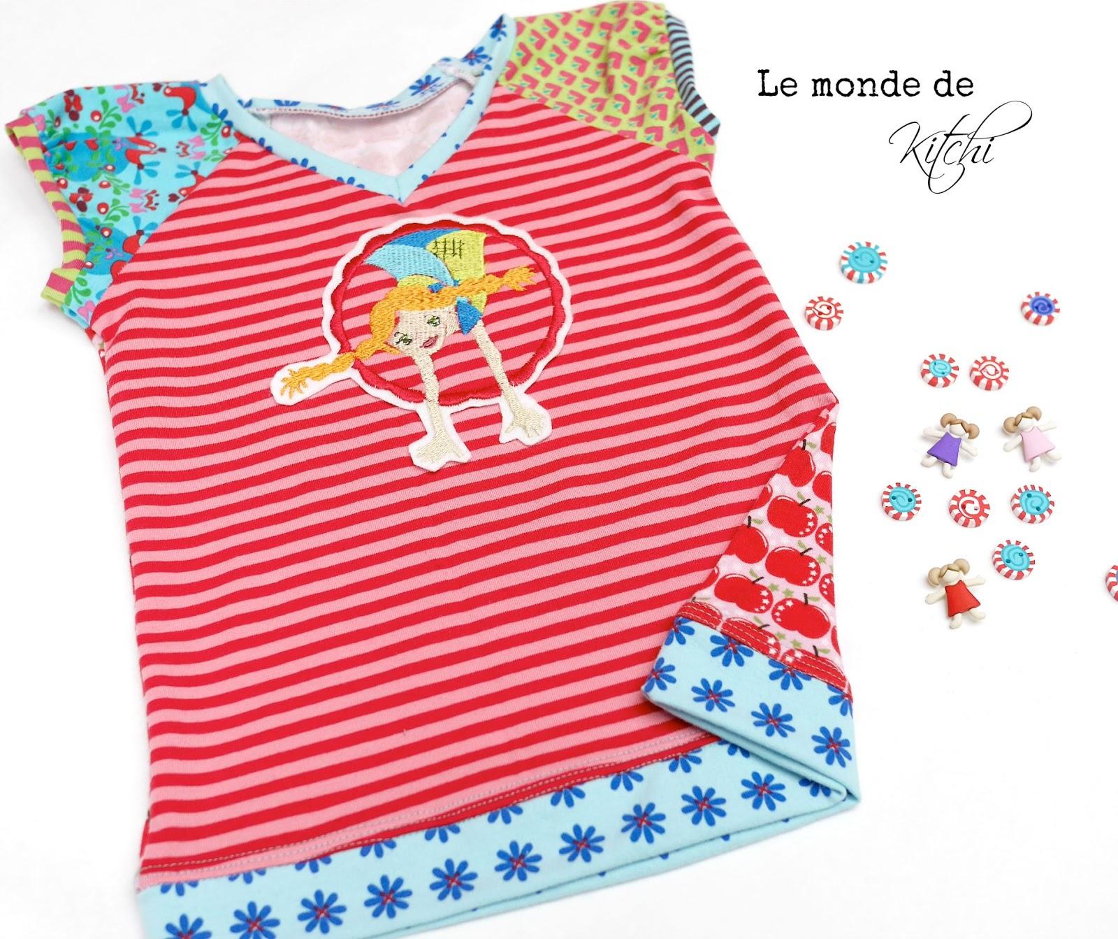 Le monde de Kitchi: Meine T-Shirt - Schnittmuster- Hitparade: Platz 3