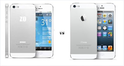 Zophone5 vs Iphone5