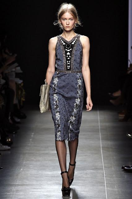 Milan Fashion Week S/S 2013: Katya Riabinkina in Bottega Veneta show