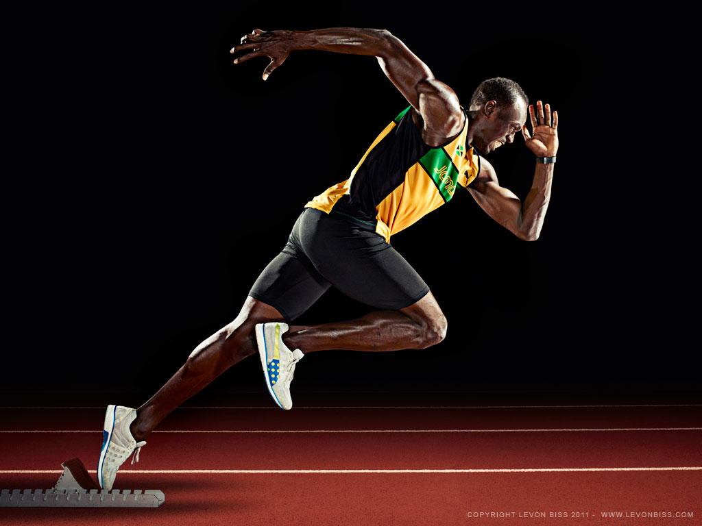 London Olympic Wallpaper: Usain Bolt Wallpaper