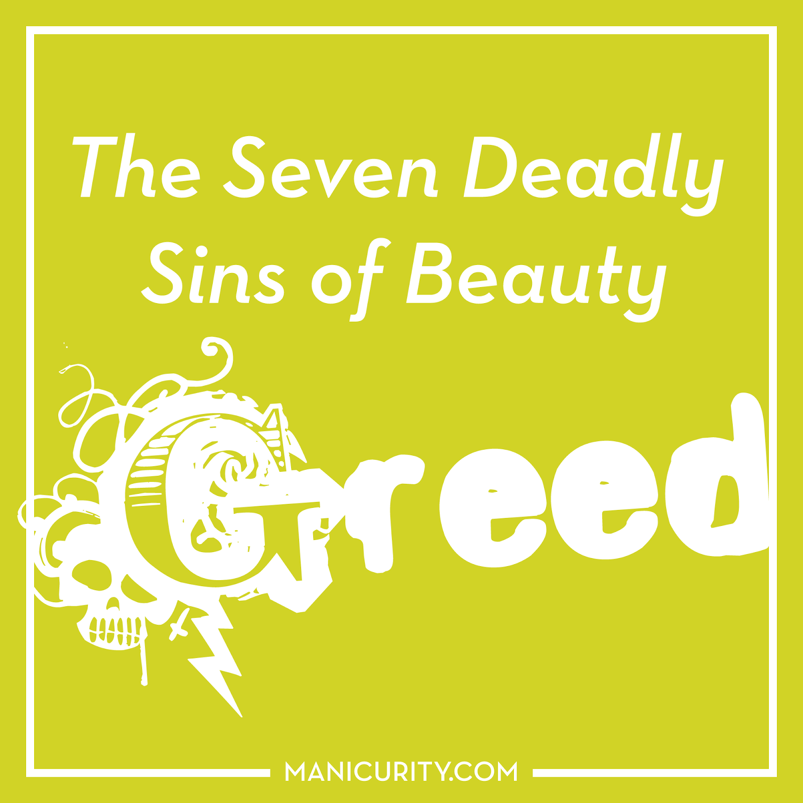 The Seven Deadly Sins of Beauty Tag - GREED! Manicurity's favorite high end (Hourglass) and low end products (Wet n' Wild) - and her most expensive HTF polish, too! | Manicurity.com