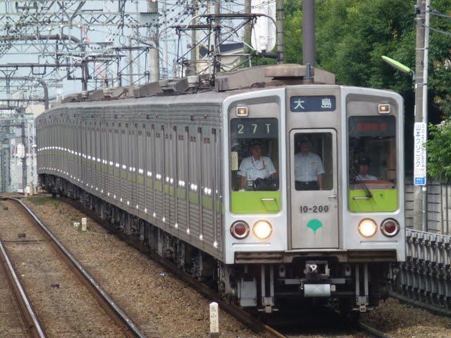京王電鉄 通勤快速 大島行き2 都営10-000形幕式200F(節電ダイヤに伴う運行)