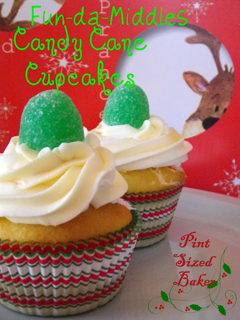 These Fun-Da-Middles Candy Cane Cupcakes are so cool! The filling in the middle keeps the cupcake moist and it taste great!