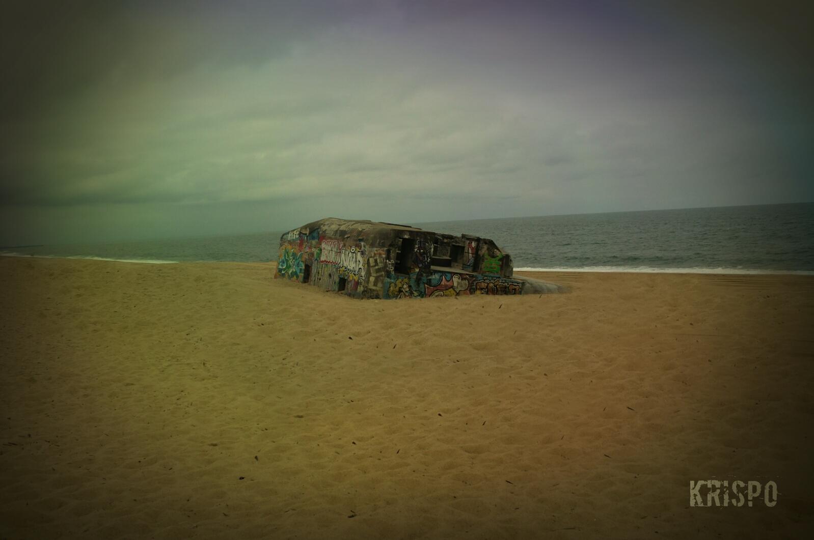 bunker de la segunda guerra mundial en playa de las landas