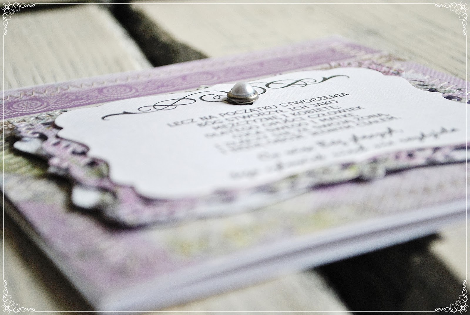 kartka ślubna scrapbooking