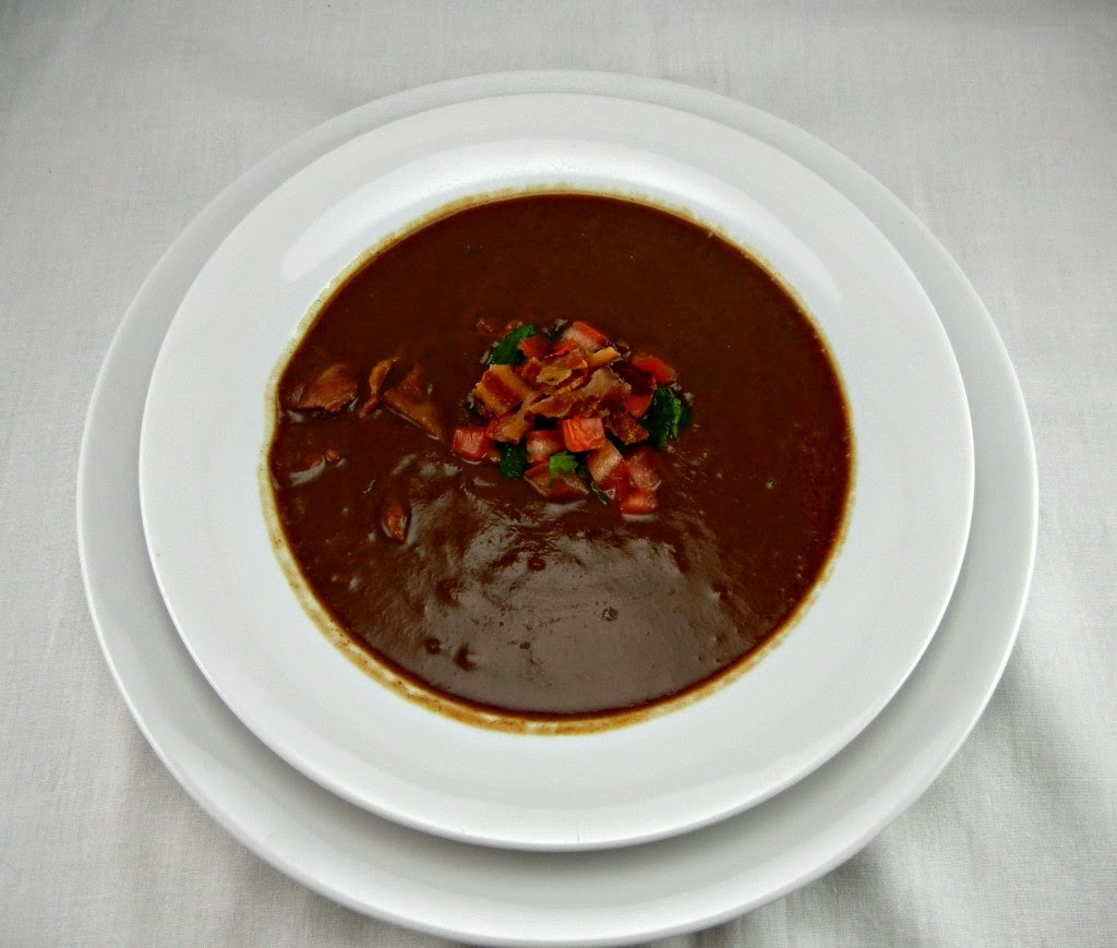 Black Bean & Bacon Soup