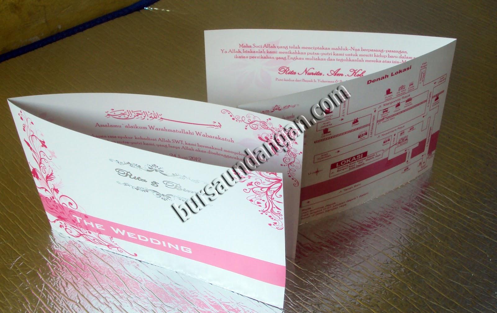 Kartu Undangan | Kartu Undangan Pernikahan | Contoh Undangan ...