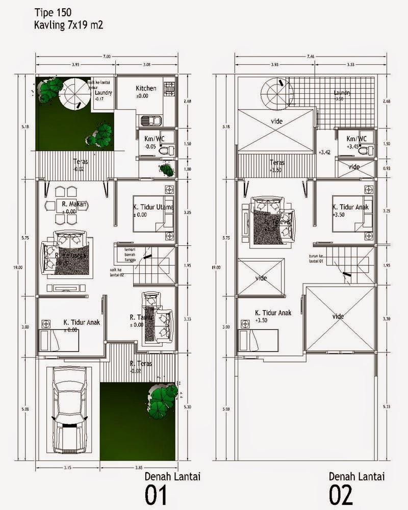 Desain Rumah Minimalis 2 Lantai 10X10