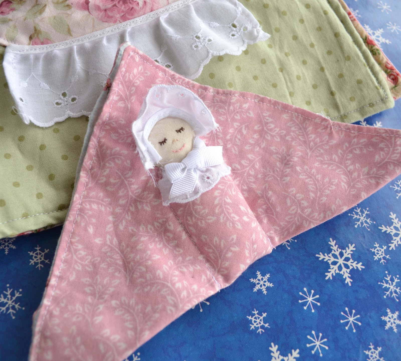 swaddle baby quiet book page