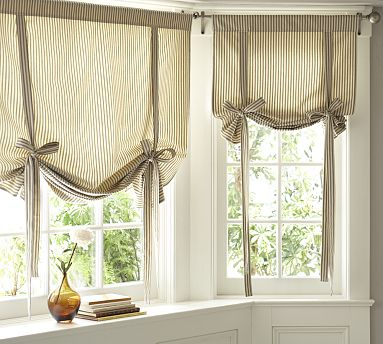 Tie Up Curtains On Pinterest Valances Curtains And Faux Roman Shades