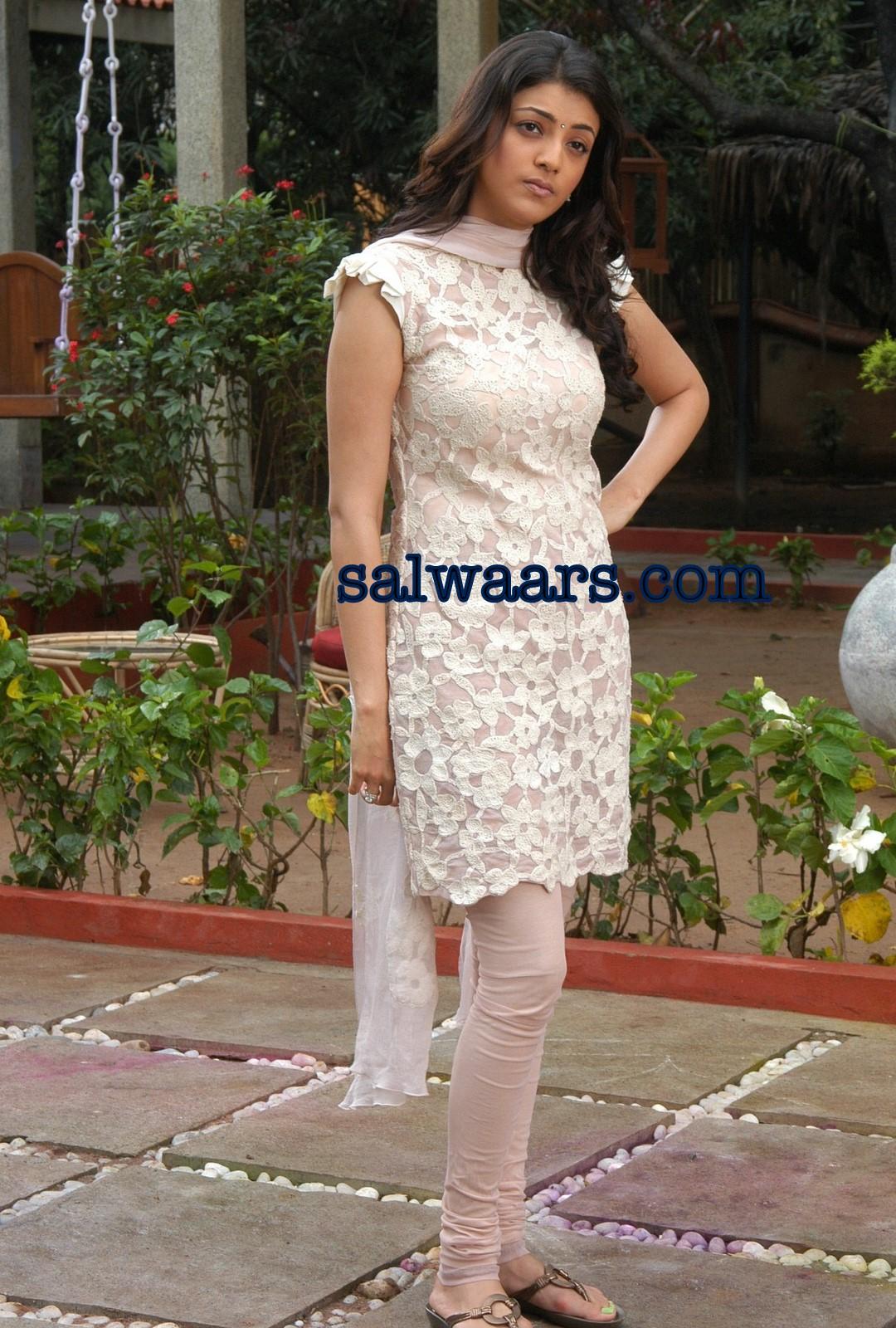 Kajal Agarwal in Brasso Designer Salwar kameez - Indian ...