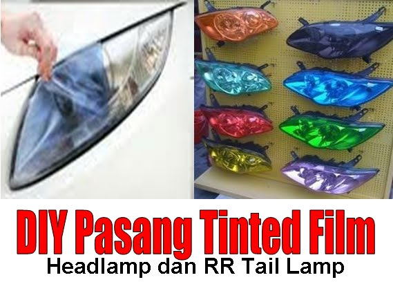 Fire Starting Automobil Diy Tinted Film Headlamp Taillamp