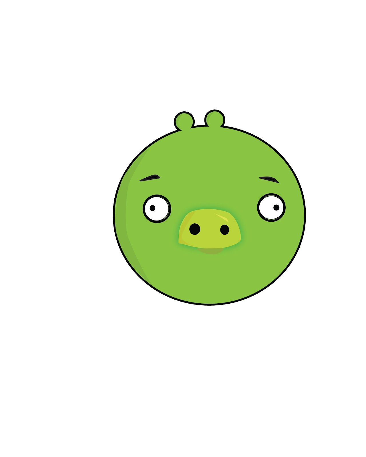 juancarlossalas portfolio: green pig from angry birds illustrator