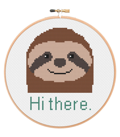 https://www.etsy.com/listing/256299339/hi-there-sloth-cross-stitch-pattern?ref=related-3