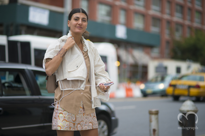Stylist Giovanna Battaglia at New York Fashion Week 2015 Spring Summer NYFW
