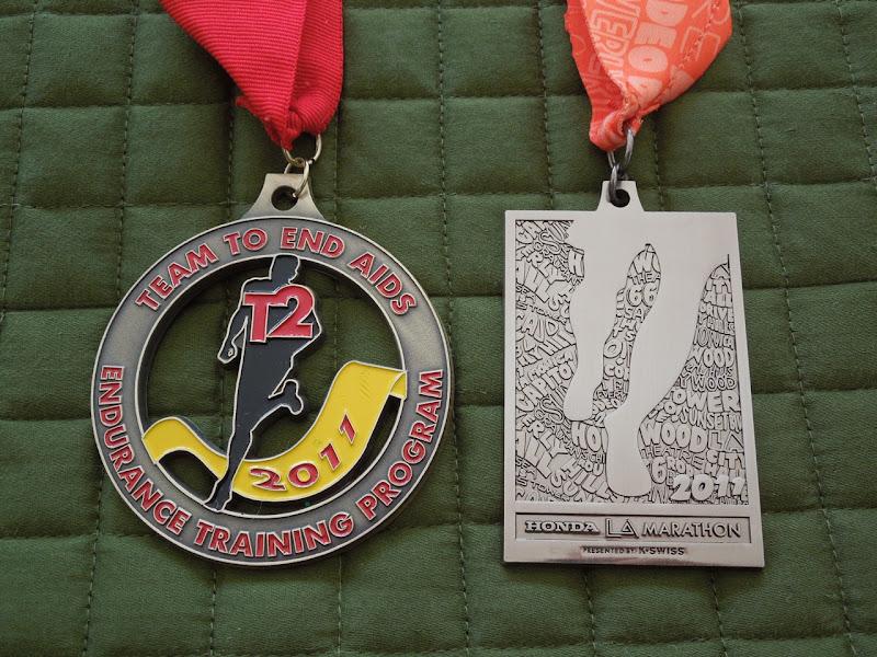 LA Marathon 2011 medals