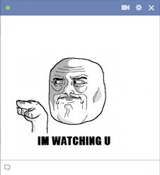I'm Watching U Meme Emoticon