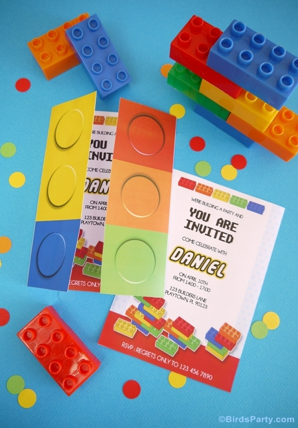 lego party printables ideas invites invitations supplies shop buy free diy birthday favors desserts table3 kids party ideas a lego inspired birthday party ideas party,Lego Party Invitation Ideas