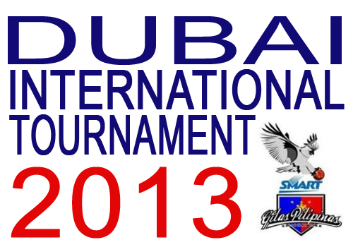 Smart Gilas Schedule for Dubai International Tournament 2013