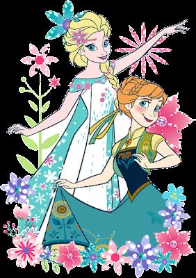 dibujo de Anna y Elsa