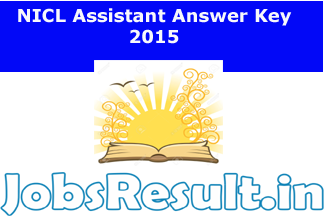 NICL Assistant Answer Key 2015