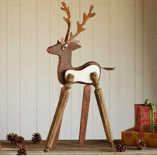 Outdoor Decor Ideas: Reclaimed Wood Reindeer | 101 DIY and Crafts
