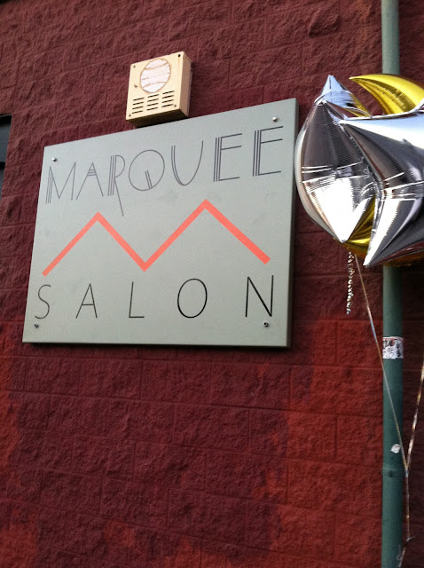 Marquee Salon sign