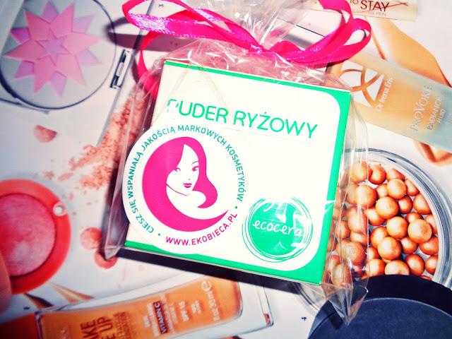 Ecocera, puder ryżowy + niespodzianka! | Świąteczne rozdanie z Ekobieca.pl!