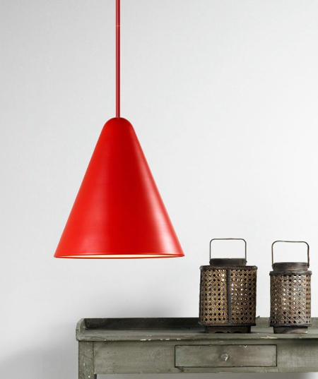 The NX503 Jive Suspension Lamp - Cool Nordlux 75403002 Pendant in a red finish