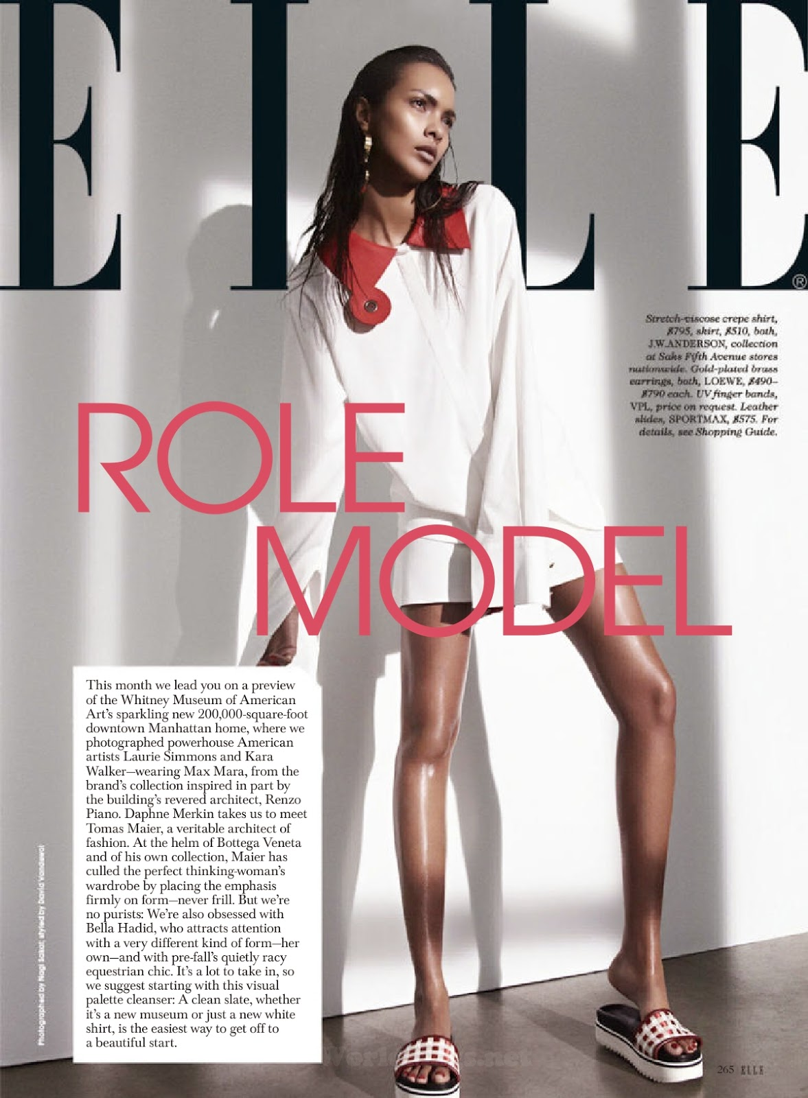 Fashion Model @ Lais Ribeiro - Elle USA, May 2015