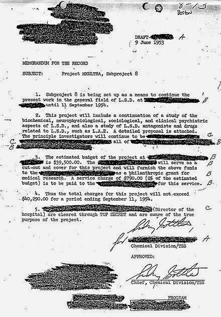 documento desclasificado MK Ultra