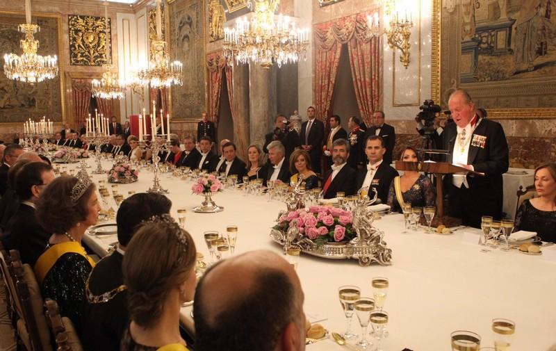 Cena de Gala en honor al Presidente de México - Protocolo