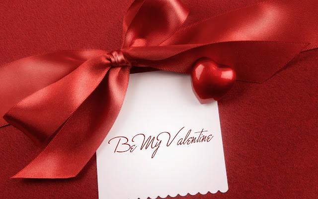 Rode valentijns foto met een hartje en briefje