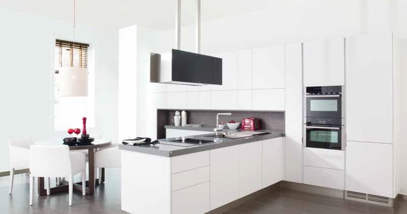 cuisine blanche schmidt avec des id es. Black Bedroom Furniture Sets. Home Design Ideas