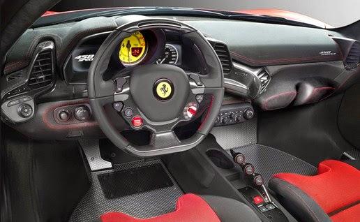 2015 Ferrari 458 interior