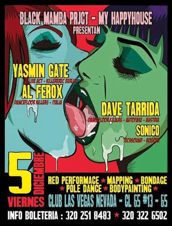 YASMIN GATE - AL FEROX en Bogotá - 5 de Diciembre 2014