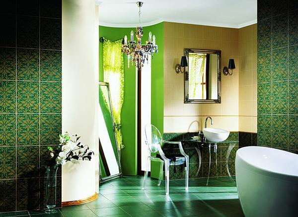 Dise o de ba os de color verde varias ideas ba os y - Colores para banos ...