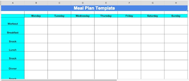Cize Nutrition Plan Template