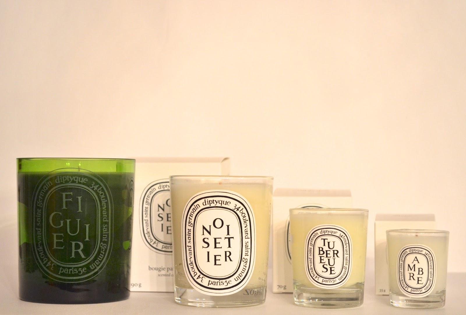 Diptyque Candles Figuier, Noisetier, Tubereuse, Ambre & Baies ...