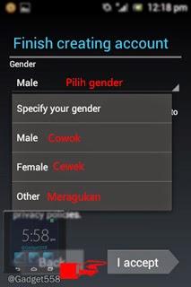 Memilih gender