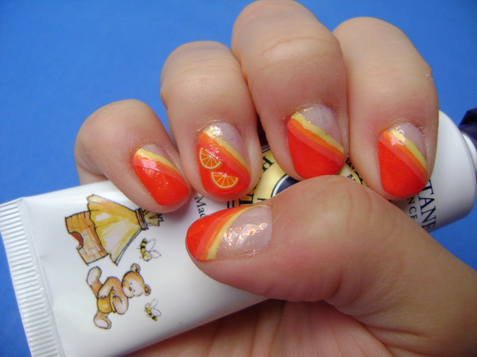 Lyranielle\'s Beauty World: Nageldesign: Orange Juicy