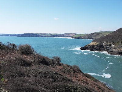 Farmers coastal Cornish fields