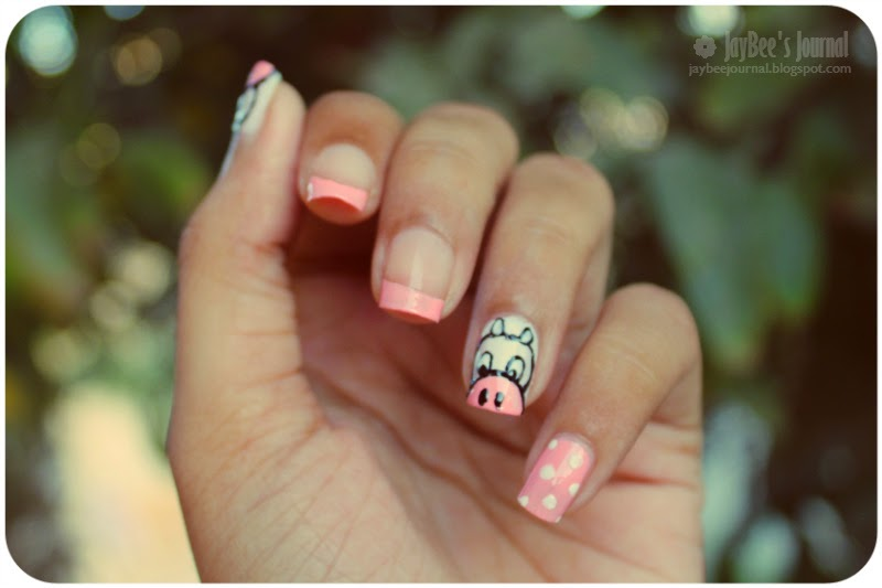 Cow Nail Art, Pakistani Beauty Nail Art Blog