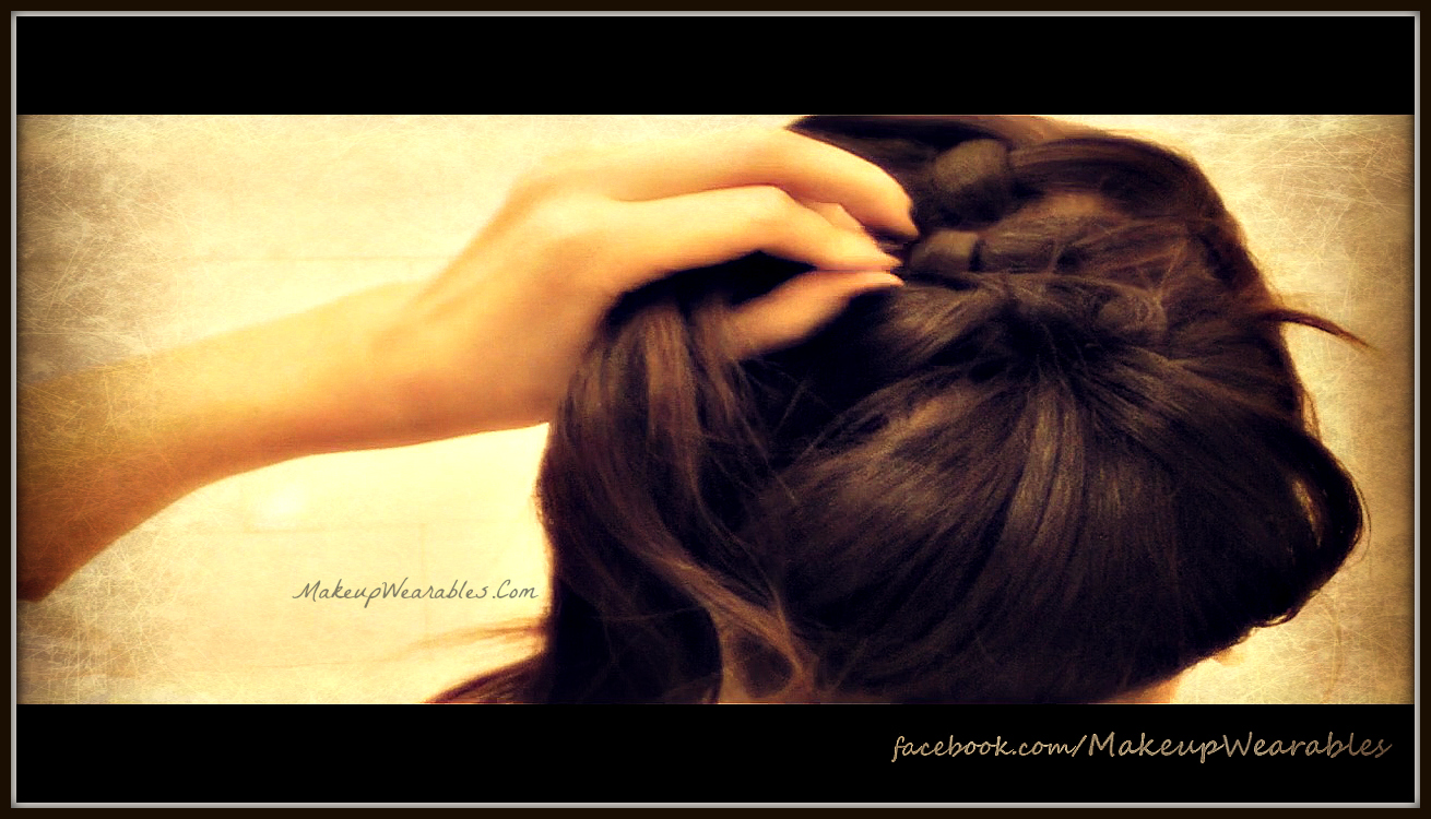 DIY hair tutorial - fancy formal chignon/bun updos upstyle -  easy hairstyles for wedding, prom, homecoming for medium long hair